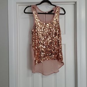 Grass collection sequin top